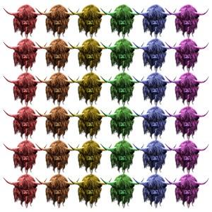 Rainbow Highland Cows