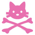 Pink Kitty Crossbones