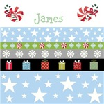 Personalize it! Holiday Stars Gifts-blue