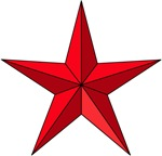 Red Faceted Star