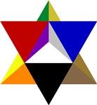 Multi-colored Merkaba