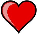Gel Heart Icon w/ black outline