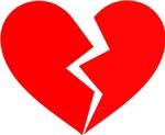 Red Broken Heart Symbol