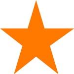 Five Pointed Orange Star