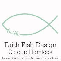 Hemlock Green Faith Fish Design