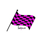 Pink Checkered Flag - Dog T-Shirts