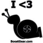 I Heart Turbo Snail - Dog Shirts