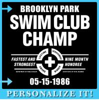 <b>PERSONALIZED: </b><br>Birthday Swim Club Champ