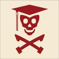 Grad Class Skully (Red and Pink)
