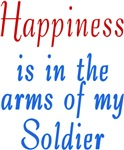Happiness is in the arms of a soldier