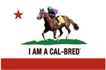 I AM CAL-BRED with Logo