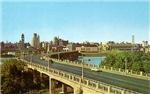 Third Avenue Bridge and Minneapolis Skyline, 1950'