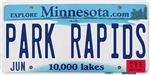 Park Rapids License Plate Shop