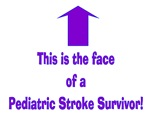 The face of pediatric Stroke Purple/blue