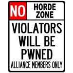 No Horde Zone T-shirts, Merchandise & Gifts