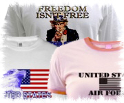 Patriotic American Eagle USAF Air Force t shirt designs gifts apparel and merchandise