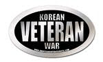 korean war veteran oval sticker