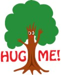 Earth Day : Tree Hugger : Hug me! Tree