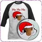 Christmas Bulldog T-Shirts and Gifts