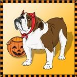 Halloween Bulldog Shirts and Gifts