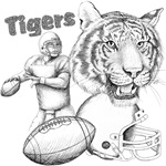 Tiger Football Collage