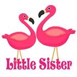 Little Sister Pink Flamingoes
