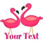 Personalizable Pink Flamingoes