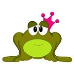 Frog in Pink Crown