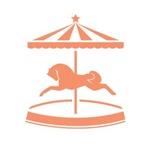 Orange Carousel Pony