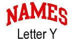 Names (red) Letter Y