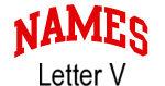 Names (red) Letter V