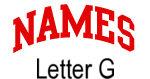Names (red) Letter G