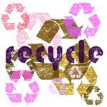 Pink & Brown Recycle Logo