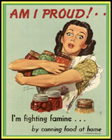 CANNING FOOD AT HOME WORLD WAR 2 T-SHIRTS