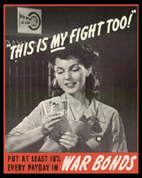 THIS IS MY FIGHT, TOO, WORLD WAR 2 T-SHIRTS