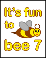 BEE 7th BIRTHDAY T-SHIRT