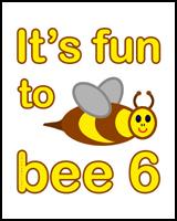BEE 6th BIRTHDAY T-SHIRT