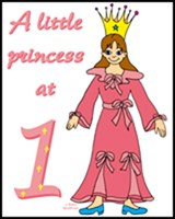 1st BIRTHDAY T-SHIRTS PRINCESS