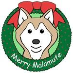 Alaskan Malamute Christmas Ornaments