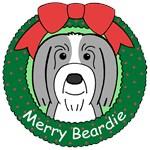 Bearded Collie Christmas Ornaments