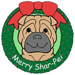 Chinese Shar-Pei Christmas Ornaments