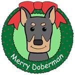 Doberman Pinscher Christmas Ornaments