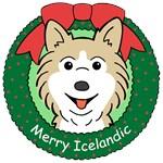 Icelandic Sheepdog Christmas Ornaments