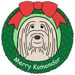 Komondor Christmas Ornaments