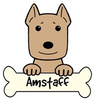 Personalized American Staffordshire Terrier