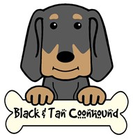Personalized Black and Tan Coonhound