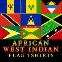 African West Indian Flags on Clothing