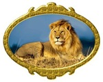 King Of Beasts Gold Frame