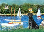 BASSIN AT ARGENTEUIL<br>& Black Labrador Retriever