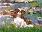 LILIES (#2)<br>& Cavalier King Charles Spaniel